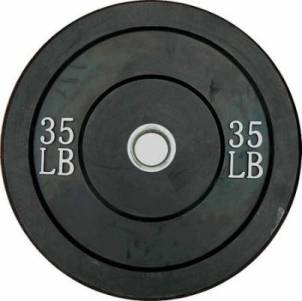 Ader Olympic Rubber Bumper Barbell Free Weight Plate Plates 35lb