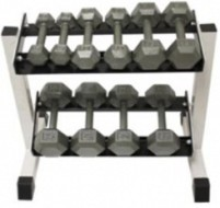 Dumbbell Dumbell Dumbells 2 Tier Storage Rack Horizontal 17 inch