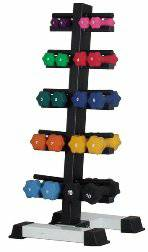 Ader Dumbbell Rack Vertical Storage Holds 20 Dumbells DR-10PW