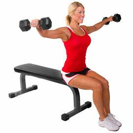 Dumbbell Dumbell Flat Utility Fitness Gym Workout Weight Bench