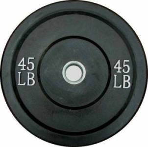 Ader Olympic Rubber Bumper Barbell Free Weight Plate Plates 45lb