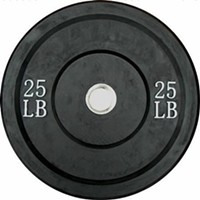 Ader Olympic Rubber Bumper Barbell Free Weight Plate Plates 25lb