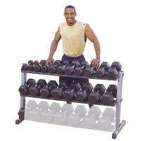 Body Solid Dumbbell Dumbell Storage 2 Tier Horizontal Rack GDR60