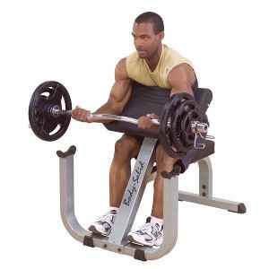 Body Solid Arm Arms Bicep Preacher Curl Curling Bench GPCB329