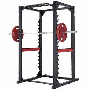 SteelFlex Commercial Power Squat Rack Safety Cage ClubLine 380