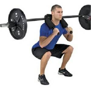 "Olympic Safety Squat Bar 82"" with Cambered Yoke Handle CSB400SB"