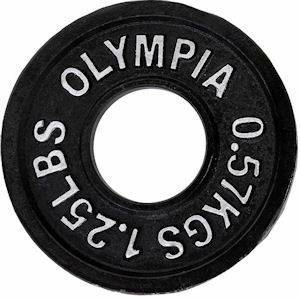 Ader Olympic Iron Metal FreeWeight Lifting Plate Plates 1.25#