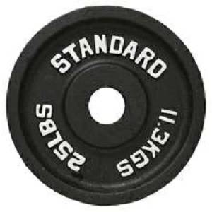 Olympic Oly Cast Iron Metal Free Weight Lifting Plate Plates 25#