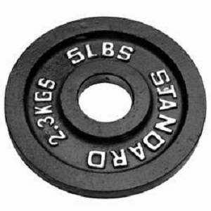 Troy USA Olympic Iron Metal Free Weight Lifting Plate Plates 5#