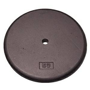 Standard Std Cast Iron Metal Free Weight Lifting Plate Plates 50