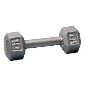 Ader Free Weight Hex Hexagon Cast Iron Dumbell Dumbbell 10#