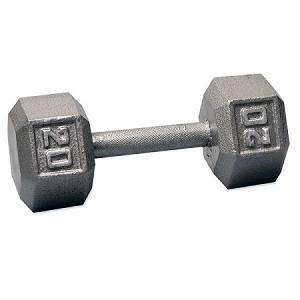 Ader Free Weight Hex Hexagon Cast Iron Dumbell Dumbbell 20#