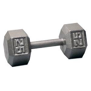 Ader Free Weight Hex Hexagon Cast Iron Dumbell Dumbbell 25#