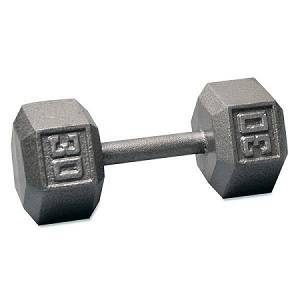Ader Free Weight Hex Hexagon Cast Iron Dumbell Dumbbell 30#