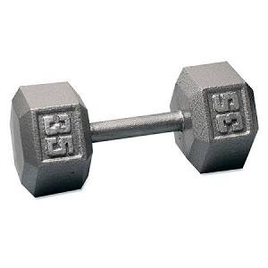 Ader Free Weight Hex Hexagon Cast Iron Dumbell Dumbbell 35#