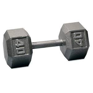 Ader Free Weight Hex Hexagon Cast Iron Dumbell Dumbbell 40#