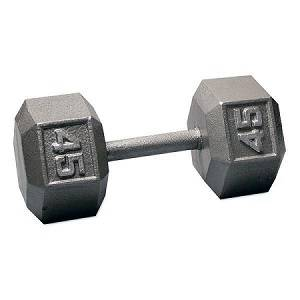 Ader Free Weight Hex Hexagon Cast Iron Dumbell Dumbbell 45#