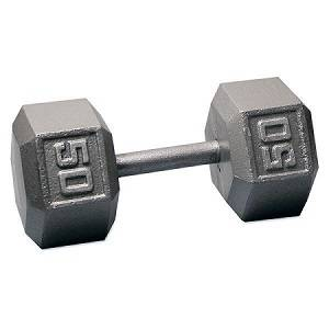 Ader Free Weight Hex Hexagon Cast Iron Dumbell Dumbbell 50#