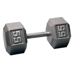 Ader Free Weight Hex Hexagon Cast Iron Dumbell Dumbbell 55#