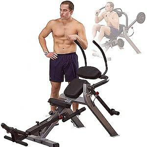 Body Solid Semi Recumbent Ab Abdominal Belly Crunch Bench GAB300