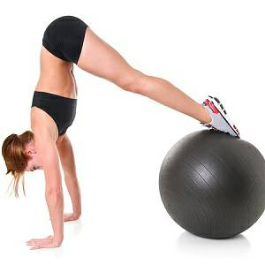 Exercise Ball Stability Stay Inflatable Fitness Core Workout 55c