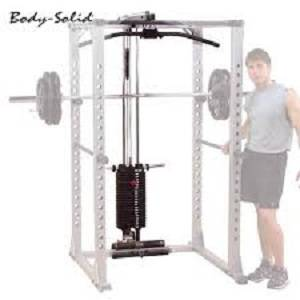 Body Solid 200 lb Weight Stack for Rack Lat Attachment GLA378