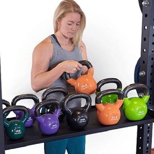 Body Solid Dumbbell Kettlebell Storage Tray Attachment Rack Cage
