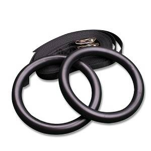 Body Solid Commercial Gymnastics Gym Rings with Straps BSTRINGS