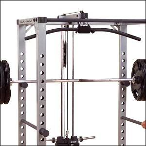 Body Solid PowerLine Lat Attachment Pulley Power Rack PLA200X