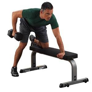 Body Solid FreeWeight Flat Utility Dumbbell Dumbell Bench GFB350