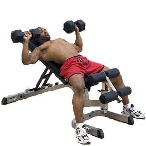 Body Solid Flat Incline Decline FID Dumbell Utility Bench GFID71