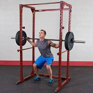 Body Solid Best Fitness Power Squat Rack Safety Cage Gym BFPR100