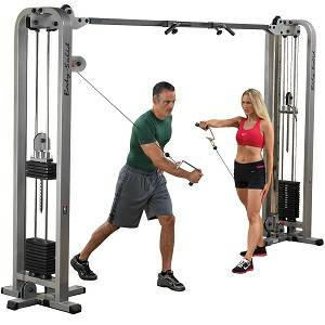 Body Solid 2 Column Cable Crossover Functional Trainer SCC1200G