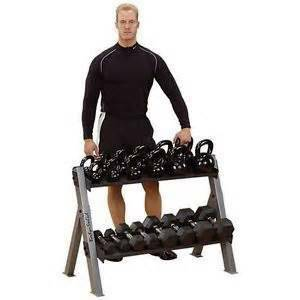 Body Solid Dumbbell KettleBell Free Weight Storage Rack GDKR100