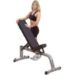 Body Solid Dumbbell Flat Incline Free Weight Utility Bench GFI21