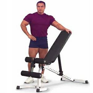 BodySolid WFID30 Flat Incline Decline Utility Free Weight Bench