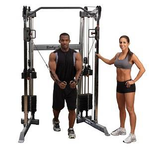 BodySolid Functional Trainer Dual Column Cable Crossover GDCC210