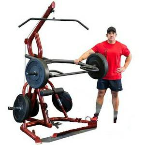 Body Solid Commercial Corner Leverage Free Weight Gym GLGS100
