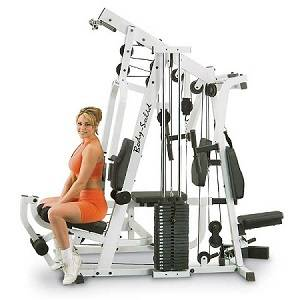 Body Solid EXM2500S Selectorized Weight Stack Compact Home Gym