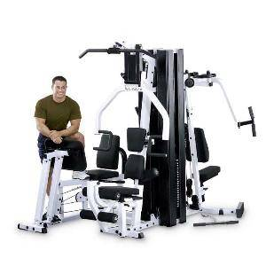 Body Solid Commercial Multi Station 2 Stack Home Gym EXM3000LPS