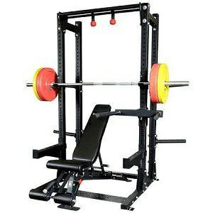 Body Solid Commercial MultiPress Squat Half Rack Gym SPR500BACK