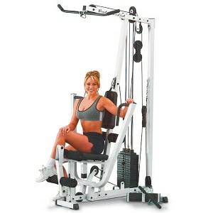 Body Solid Space Saver Compact Multi Station Home Gym EXM1500S