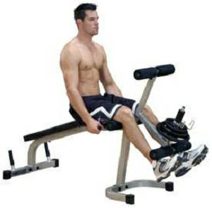 Body Solid PowerLine Seated Leg Extension Supine Curl PLCE-165X