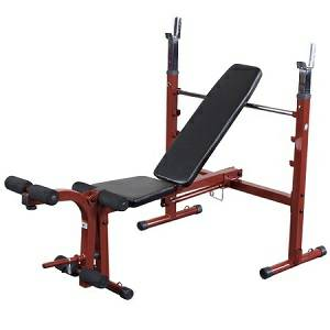 Body Solid Best Fitness Olympic Flat Incline Weight Bench BFOB10