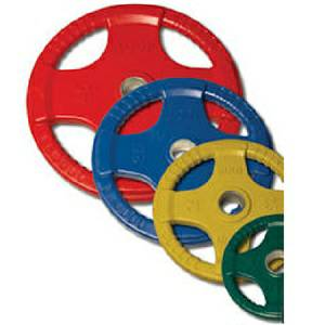 Body Solid Olympic Free Weight Color Plate Rubber Grip 240# Set