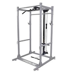 Body Solid PowerLine PPR1000 Power Rack Lat Pulldown PLA1000