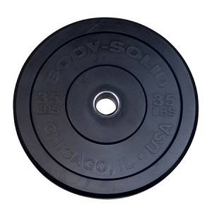 Body Solid Chicago Extreme Olympic Bumper Weight Plate 35 OBPX35