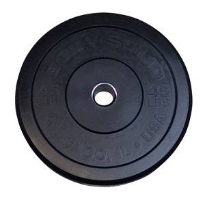 Body Solid Chicago Extreme Olympic Bumper Weight Plate 45 OBPX45