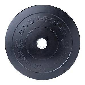 Body Solid Chicago Extreme Olympic Bumper Weight Plate 10 OBPX10
