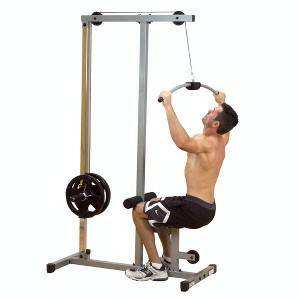 Body Solid PowerLine Plate Loaded High Lat PullDown Curl PLM180X